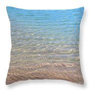 Aqua Art Throw Pillow