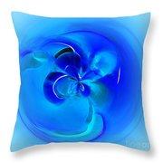Aqua Blue Orb Throw Pillow
