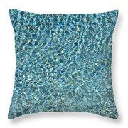 Aqua Diamonds Throw Pillow