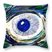 Aqua Eye Throw Pillow