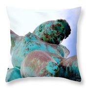 Aqua Girl Throw Pillow