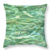 Aqua Green Water Art 2 Throw Pillow