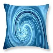 Aqua Lagoon Abstract Throw Pillow