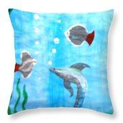 Aqua Life Throw Pillow