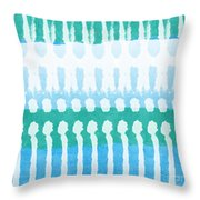 Aqua Throw Pillow by Linda Woods