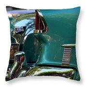 Aqua Marine Blue Chevy Throw Pillow