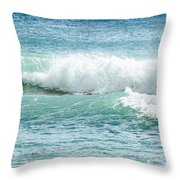 Aqua Marine Throw Pillow