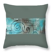 Aqua Mist By Madart Throw Pillow