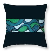 Aqua Motion Throw Pillow
