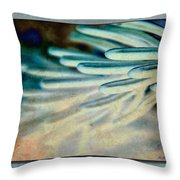 Aqua Needles Throw Pillow