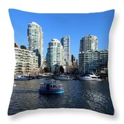 Aqua Ride Throw Pillow