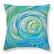 Aqua Seashell Throw Pillow