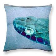 Aqua Serpent Throw Pillow