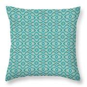 Aqua X Arrangement Throw Pillow