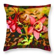 Aqualigia Floral 11x14 Throw Pillow