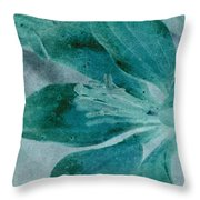 Aqualily Throw Pillow
