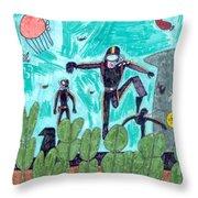 Aqualung Throw Pillow
