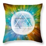 Aquarian Moon Yuga Throw Pillow