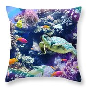 Aquarium Throw Pillow