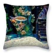 Aquarium Art Throw Pillow