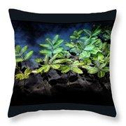 Aquatic Leaves Throw Pillow