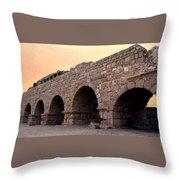Aqueduct At Caesarea   Throw Pillow