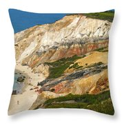 Aquinnah Clay Cliffs Marthas Vineyard Throw Pillow