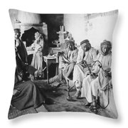 Arab Men At Leisure Throw Pillow
