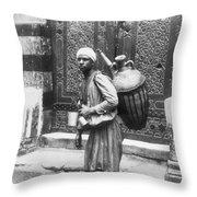 Arab Waterboy, C1900 Throw Pillow