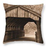 Arabia Mountain Covered Bridge Throw Pillow