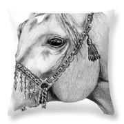 Arabian Halter Throw Pillow