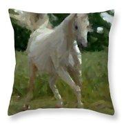 Arabian Horse Abstract Throw Pillow