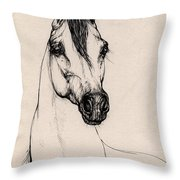 Arabian Horse Drawing 29 Throw Pillow