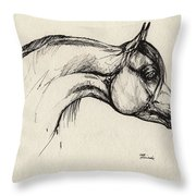 Arabian Horse Drawing 30 Throw Pillow