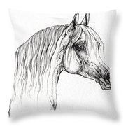 Arabian Horse Drawing 47 Throw Pillow