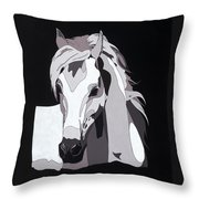 Arabian Horse With Hidden Picture Throw Pillow