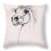 Arabian Horse Portrait 2014 02 25 Throw Pillow