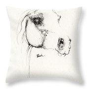 Arabian Horse Sketch 2014 05 24 Throw Pillow