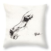 Arabian Horse Sketch 2014 05 24 G Throw Pillow