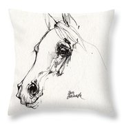 Arabian Horse Sketch 2014 05 28c Throw Pillow