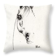 Arabian Horse Sketch 2014 05 29b Throw Pillow