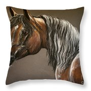Arabian Mare Throw Pillow