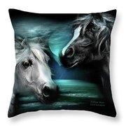 Arabian Moon Throw Pillow