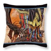 Arabian Native Show Throw Pillow