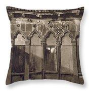 Arabian Windows, In Campo Santa Maria Throw Pillow