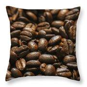 Arabica Beans Throw Pillow