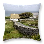 Aran Cottage Throw Pillow