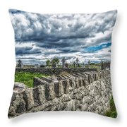 Aran Island Cemetary Ireland Throw Pillow