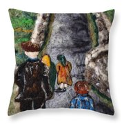 Aran Island Walk Throw Pillow