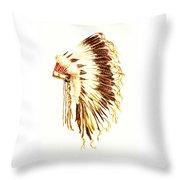 Arapaho War Bonnet Throw Pillow